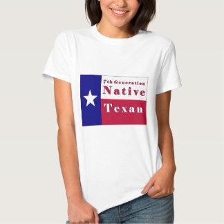 7mo Bandera nativa del Texan de la generación Polera