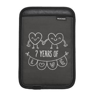 7mo Corazones de la tiza del regalo del Funda iPad Mini