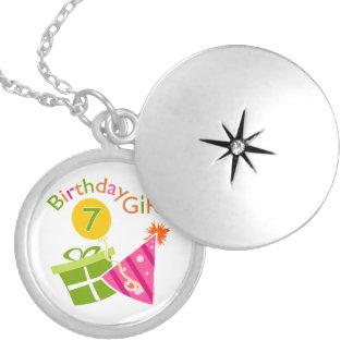 7mo cumpleaños - chica del cumpleaños collares personalizados