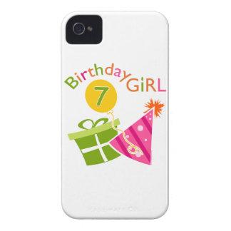 7mo cumpleaños - chica del cumpleaños iPhone 4 Case-Mate protector