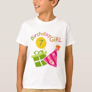 7mo cumpleaños - chica del cumpleaños playera