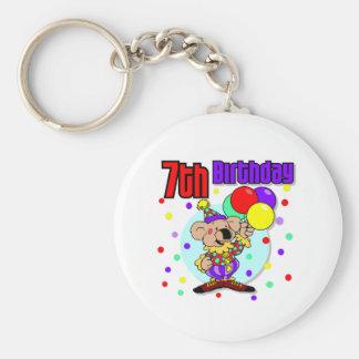 7mo Cumpleaños de Australia del cumpleaños Llavero Redondo Tipo Pin