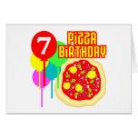 7mo Cumpleaños de la pizza del cumpleaños Felicitacion