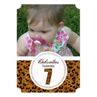 7mo cumpleaños del leopardo: Imagen: Invitación