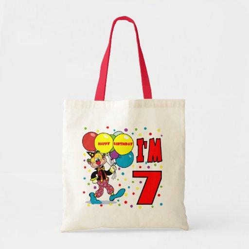 7mo Cumpleaños del payaso del cumpleaños Bolsa De Mano