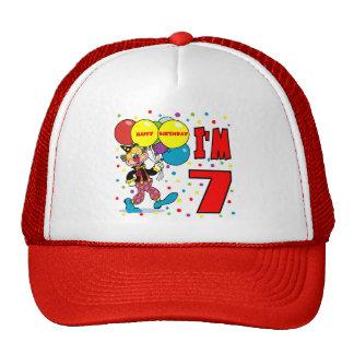 7mo Cumpleaños del payaso del cumpleaños Gorro De Camionero