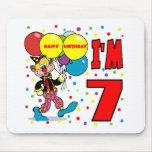 7mo Cumpleaños del payaso del cumpleaños Alfombrillas De Ratón