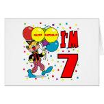 7mo Cumpleaños del payaso del cumpleaños Tarjeta De Felicitación