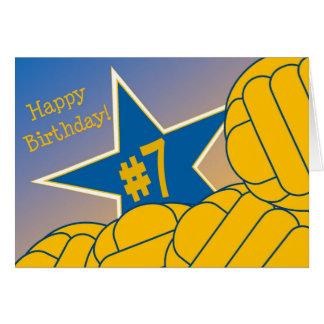 ¡7mo cumpleaños feliz a mi estrella preferida del tarjeta de felicitación