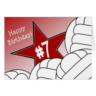 ¡7mo cumpleaños feliz, estrella del softball! tarjeta de felicitación