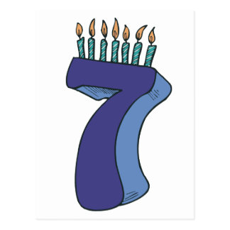 ¡7mo cumpleaños feliz! postales