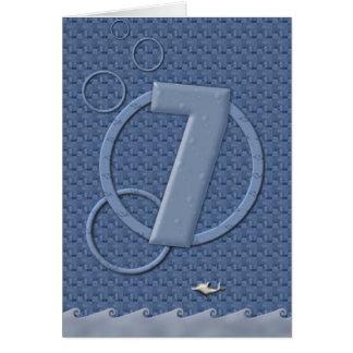 ¡7mo cumpleaños feliz! tarjeta de felicitación