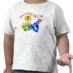 7mo cumpleaños - muchacho del cumpleaños camisetas