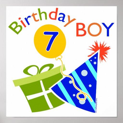 7mo cumpleaños - muchacho del cumpleaños poster