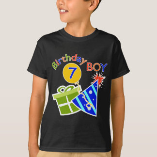 7mo cumpleaños - muchacho del cumpleaños playera