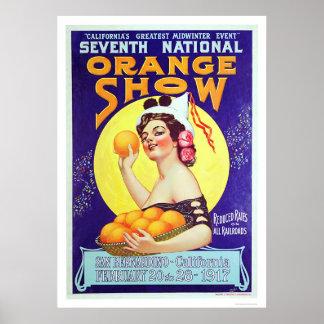 7mo Demostración anaranjada nacional 1917 Póster