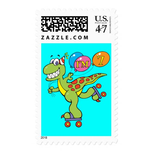 7mo Dinosaurio del cumpleaños Sellos