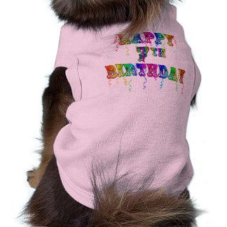 7mo diseño feliz del circo del cumpleaños playera sin mangas para perro