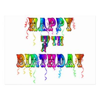7mo diseño feliz del circo del cumpleaños postal
