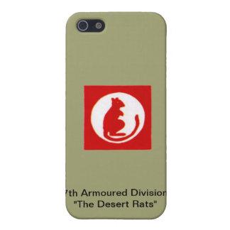 """7mo División acorazada """" las ratas de desierto """" iPhone 5 Funda"""