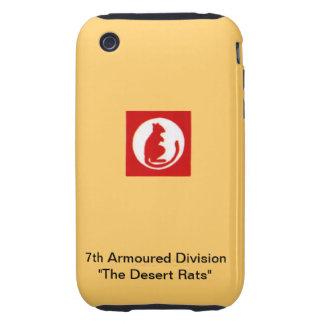 "7mo División acorazada ""las ratas de desierto "" Tough iPhone 3 Carcasa"