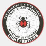 7mo División de infantería (luz) Etiqueta Redonda