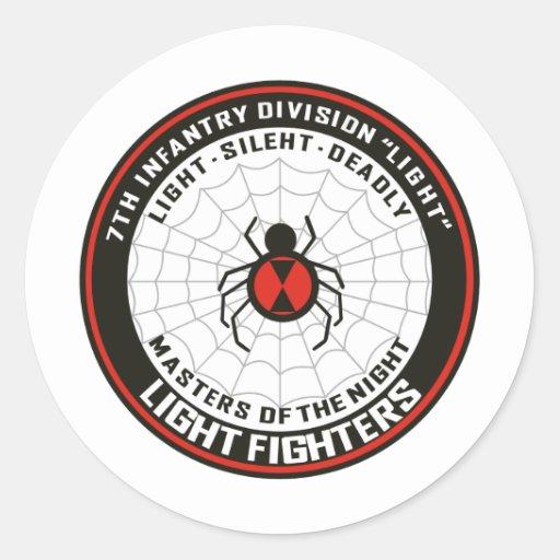 7mo División de infantería (luz) Pegatina Redonda