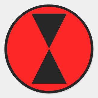 7mo División de infantería Pegatina Redonda