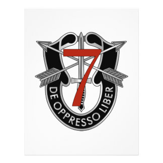 7mo Escudo del grupo de las fuerzas especiales Tarjetones