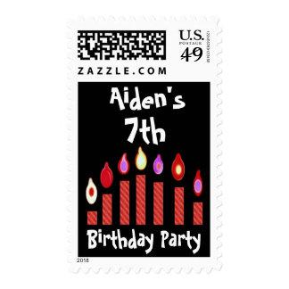 7mo Fiesta de cumpleaños con Oodles de velas rojas Franqueo