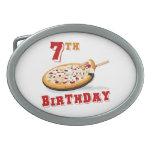 7mo Fiesta de la pizza del cumpleaños Hebilla De Cinturón