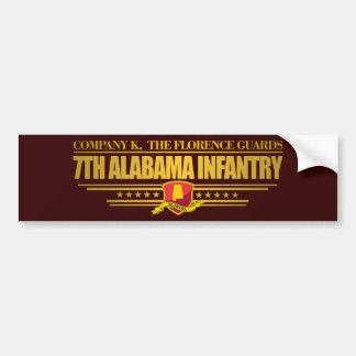 7mo Infantería de Alabama Pegatina Para Auto