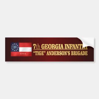 7mo Infantería de Georgia (BA2) Pegatina Para Auto
