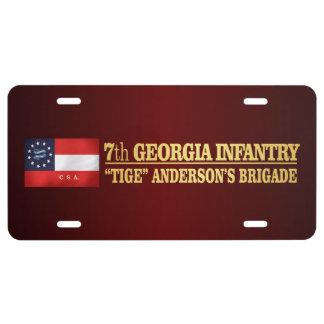 7mo Infantería de Georgia (BA2) Placa De Matrícula