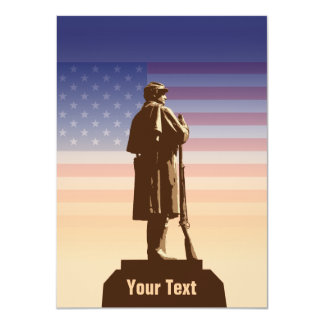"""7mo Monumento del regimiento Invitación 4.5"""" X 6.25"""""""