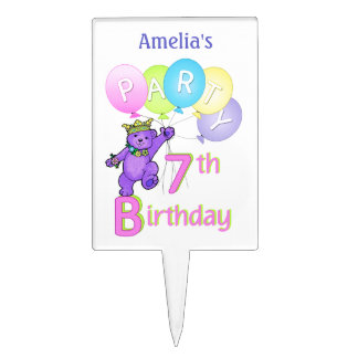7mo nombre del personalizado de la fiesta de cumpl figuras para tartas