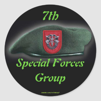 7mo Pegatina de los veteranos de las boinas verdes