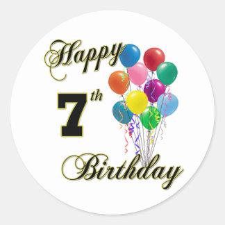 7mo pegatina del cumpleaños y ropa felices del