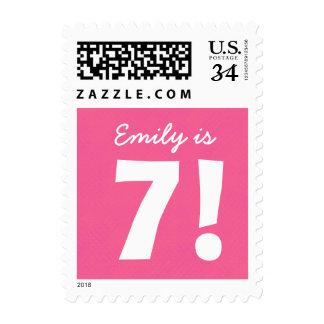 7mo Puntos rosados conocidos de encargo del Sellos