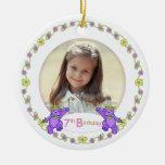 7mo recuerdo de la foto del cumpleaños de princesa adorno de navidad