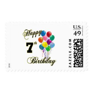 7mo sello feliz de los E.E.U.U. del cumpleaños