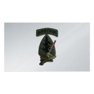 7mo sfg del sof del sf de las boinas verdes de las tarjetas de visita