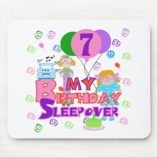 7mo Sleepover del cumpleaños Alfombrilla De Raton