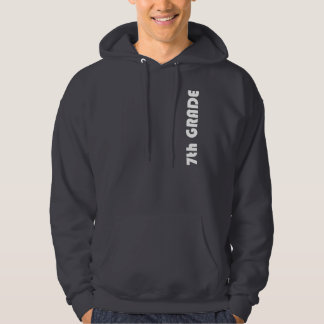 7mo Sudadera con capucha gris oscuro del grado