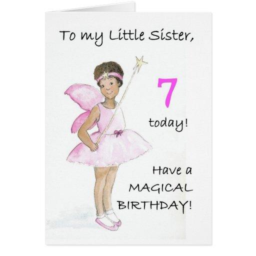 7mo Tarjeta de cumpleaños para una pequeña hermana