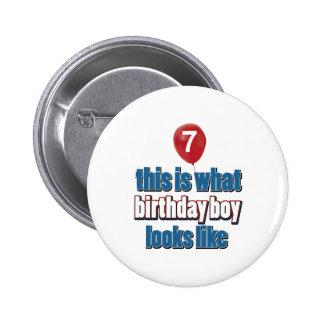 7mos diseños del cumpleaños del año pin
