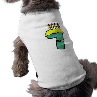7mos regalos de cumpleaños del número siete playera sin mangas para perro