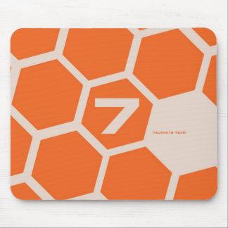7Summits - Orange Hive Mouse Pad