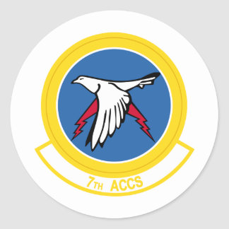 7th ACCS Round Stickers