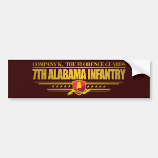 7th Alabama Infantry Car Bumper Sticker